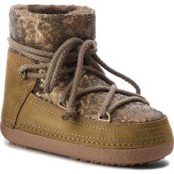 Buty INUIKII - Boot Classic 70101-9 Sequin Olive. Zielone buty zimowe damskie Inuikii, ze skóry. Za 1409,00 zł.