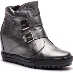 Sneakersy EKSBUT - 67-4635-G56-1G Srebro. Szare sneakersy damskie Eksbut, ze skóry. W wyprzedaży za 259,00 zł.