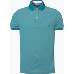 Tommy Hilfiger - Męska koszulka polo, zielony. Szare koszulki polo marki TOMMY HILFIGER, z bawełny. Za 249,95 zł.