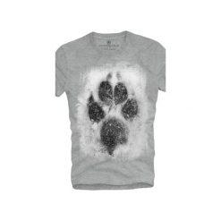 T-shirt UNDERWORLD Ring spun cotton Łapa. Szare t-shirty męskie z nadrukiem marki Underworld, m, z bawełny. Za 59,99 zł.