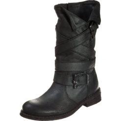Felmini GREDO Kowbojki i Buty motocyklowe zenia black. Czarne buty zimowe damskie marki Felmini, z materiału. Za 699,00 zł.