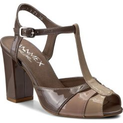 Sandały damskie: Sandały ANN MEX - 7835 12LS+03LR+03L Beż
