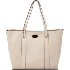 Torebki klasyczne damskie: Skórzana torebka w kolorze beżowym – (S)33 x (W)42 x (G)14 cm