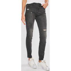 Armani Exchange - Jeansy. Czarne jeansy damskie marki Armani Exchange, l, z materiału, z kapturem. Za 529,90 zł.