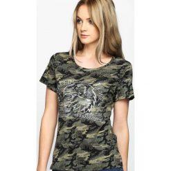T-shirty damskie: Zielony-Moro T-shirt Water Line