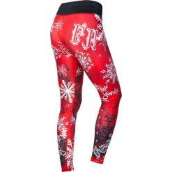 Spodnie damskie: Feelj Legginsy damskie termiczne Black Deer czerwono-białe r. S