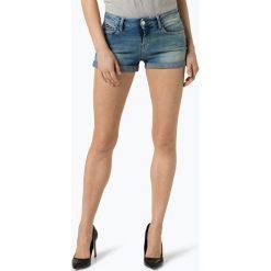 Tommy Jeans - Damskie krótkie spodenki jeansowe, niebieski. Niebieskie bermudy damskie Tommy Jeans, z jeansu. Za 299,95 zł.