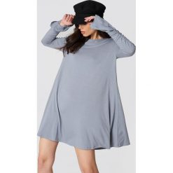 Sukienki hiszpanki: Glamorous Sukienka z marszczonymi rękawami – Grey