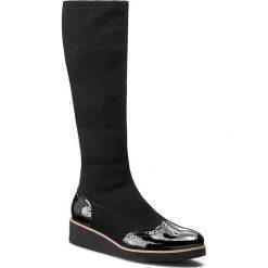Kozaki SAGAN - 2601/1 Czarna Lycra/Czarny Lakier. Czarne buty zimowe damskie marki Sagan, z lakierowanej skóry, na obcasie. W wyprzedaży za 249,00 zł.