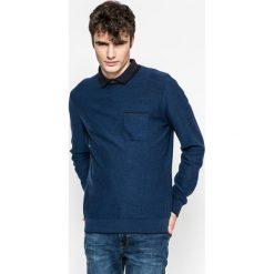 Medicine - Sweter Slow Future. Niebieskie swetry klasyczne męskie marki MEDICINE, l, z bawełny, z okrągłym kołnierzem. W wyprzedaży za 39,90 zł.