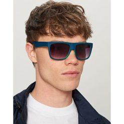 Okulary przeciwsłoneczne - Granatowy. Niebieskie okulary przeciwsłoneczne damskie lenonki Reserved. Za 49,99 zł.