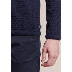 Swetry klasyczne męskie: Armani Collezioni WAFFLE Sweter dunkelblau