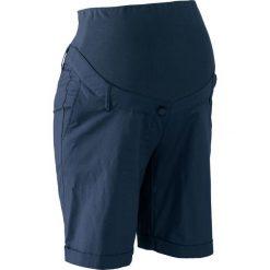 Szorty ciążowe bonprix ciemnoniebieski. Niebieskie spodnie ciążowe marki bonprix, z materiału, z dekoltem w serek. Za 109,99 zł.