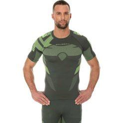 Koszulki sportowe męskie: Brubeck Koszulka męska DRY zielona r. S (SS11970)