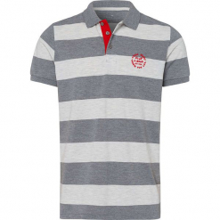 Koszulka polo w kolorze jasnoszaro-kremowym. Niebieskie koszulki polo marki GALVANNI, l, z okrągłym kołnierzem. W wyprzedaży za 45,95 zł.