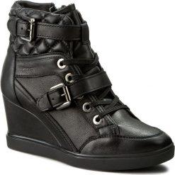 Sneakersy GEOX - D Eleni C D6467C 00085 C9999 Black. Czarne sneakersy damskie Geox, z materiału. W wyprzedaży za 319,00 zł.