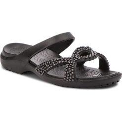 Chodaki damskie: Klapki CROCS - Meleen Twist Diamante Sandal 205101 Black/Black