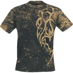 T-shirty męskie: Outer Vision Marble Tattoo T-Shirt czarny