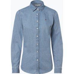 Tommy Hilfiger - Damska koszula jeansowa, niebieski. Niebieskie koszule jeansowe damskie marki TOMMY HILFIGER, eleganckie, z koszulowym kołnierzykiem. Za 399,95 zł.