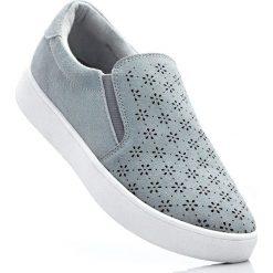 Buty do koszykówki damskie: Buty wsuwane skórzane bonprix srebrnoszary