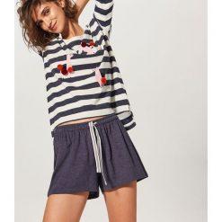 Piżama z szortami - Granatowy. Niebieskie piżamy damskie Reserved, l. Za 79,99 zł.