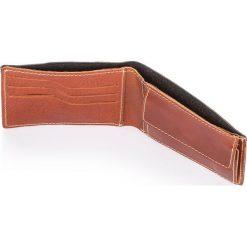 Męski skórzany portfel PAOLO PERUZZI Lorenzo Brąz. Czarne portfele męskie marki Wittchen. Za 76,90 zł.
