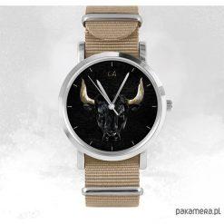 Zegarek - Byk - beżowy, nato. Brązowe zegarki męskie Pakamera. Za 103,00 zł.
