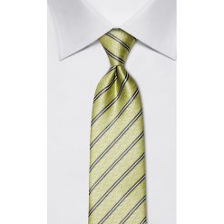 Krawaty męskie: Jedwabny krawat w kolorze jasnozielonym – szer. 8 cm