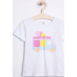Trendyol - Top dziecięcy 98-128 cm. Szare bluzki dziewczęce bawełniane Trendyol, z nadrukiem, z okrągłym kołnierzem. W wyprzedaży za 27,90 zł.