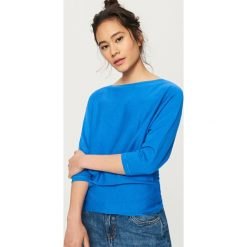 Sweter z zabudowanym dekoltem - Niebieski. Niebieskie swetry klasyczne damskie marki Reserved, l. Za 59,99 zł.