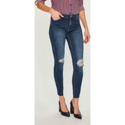 Answear - Jeansy. Niebieskie jeansy damskie rurki ANSWEAR, z bawełny. Za 129,90 zł.
