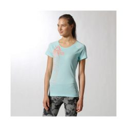 Koszulka Reebok Os Triblend Crw (B85393). Niebieskie bluzki damskie Reebok, z bawełny, z krótkim rękawem. Za 44,99 zł.