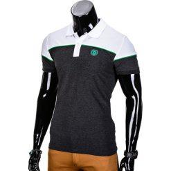 KOSZULKA MĘSKA POLO BEZ NADRUKU S832 - GRAFITOWA. Szare koszulki polo marki Lacoste, z gumy, na sznurówki, thinsulate. Za 29,00 zł.