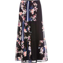 Długie spódnice: Spódnica w kwiaty bonprix czarny w kwiaty