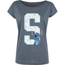 Lilo & Stitch 626 - Stitch Koszulka damska odcienie niebieskiego. Niebieskie bluzki asymetryczne Lilo & Stitch, l, z nadrukiem, z dekoltem w łódkę. Za 79,90 zł.