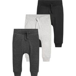 Next 3 PACK Spodnie treningowe black/grey. Czarne spodnie dresowe dziewczęce Next, z bawełny. Za 139,00 zł.