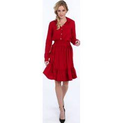 Czerwona sukienka z falbaną na co dzień 1923. Białe sukienki na komunię marki Fasardi, l. Za 89,00 zł.