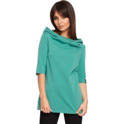 ABBY Bluza z krótkim rękawem i kapturem - zielona. Zielone bluzy damskie BE, l, z krótkim rękawem, krótkie. Za 129,99 zł.