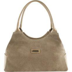 Torebki klasyczne damskie: Skórzana torebka w kolorze beżowym – (S)38 x (W)15 x (G)22 cm
