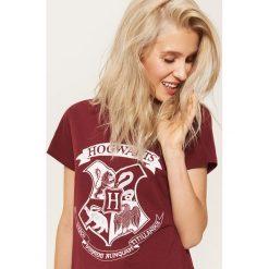 T-shirty damskie: T-shirt hogwarts – Bordowy