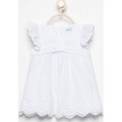 Sukienki niemowlęce: Sukienka z ażurowym dołem - Biały