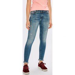 Tommy Jeans - Jeansy Nora. Niebieskie jeansy damskie rurki marki Tommy Jeans, z bawełny. W wyprzedaży za 399,90 zł.