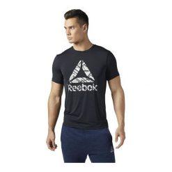 Reebok Koszulka męska Workout ActivChill Graphic czarna r. XL (BQ3848). Pomarańczowe t-shirty męskie marki Reebok, z dzianiny, sportowe. Za 129,90 zł.