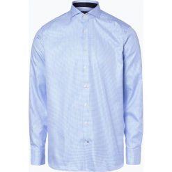 OLYMP SIGNATURE - Koszula męska, niebieski. Szare koszule męskie marki S.Oliver, l, z bawełny, z włoskim kołnierzykiem, z długim rękawem. Za 449,95 zł.
