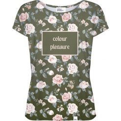 Colour Pleasure Koszulka damska CP-034 266 różowo-zielona r. M/L. T-shirty damskie Colour pleasure, l. Za 70,35 zł.