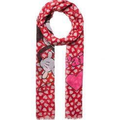 """Chusty damskie: Chusta """"Kissing Mickey and Minnie"""" w kolorze czerwonym – 190 x 70 cm"""