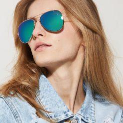 Okulary przeciwsłoneczne damskie aviatory: Okulary przeciwsłoneczne – Wielobarwn