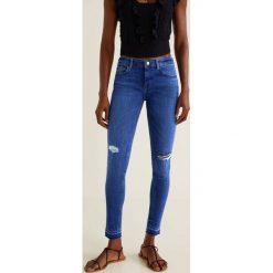 Mango - Jeansy Kim. Niebieskie jeansy damskie rurki marki Mango, z bawełny. Za 119,90 zł.