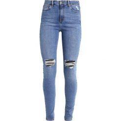 Topshop Tall RIP JAMIE Jeans Skinny Fit middenim. Niebieskie boyfriendy damskie Topshop Tall. W wyprzedaży za 179,25 zł.
