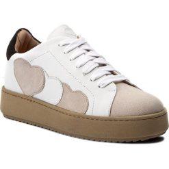 Sneakersy TWINSET - Sneakers CA7PJA  Bic Ottic/White 01079. Białe sneakersy damskie Twinset, ze skóry. W wyprzedaży za 469,00 zł.